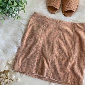 """FP """"Modern Femme"""" Metallic Rose Gold Mini Skirt"""